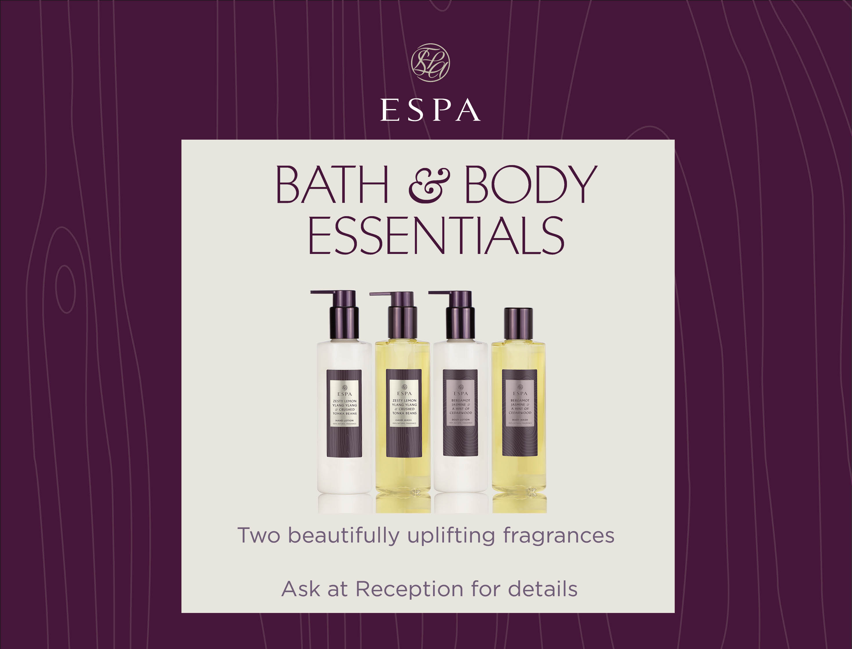 Bath and Body Essentials now in
