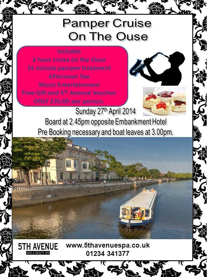 Pamper Cruise on the Ouse