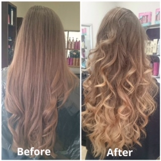 Hair before and after pics